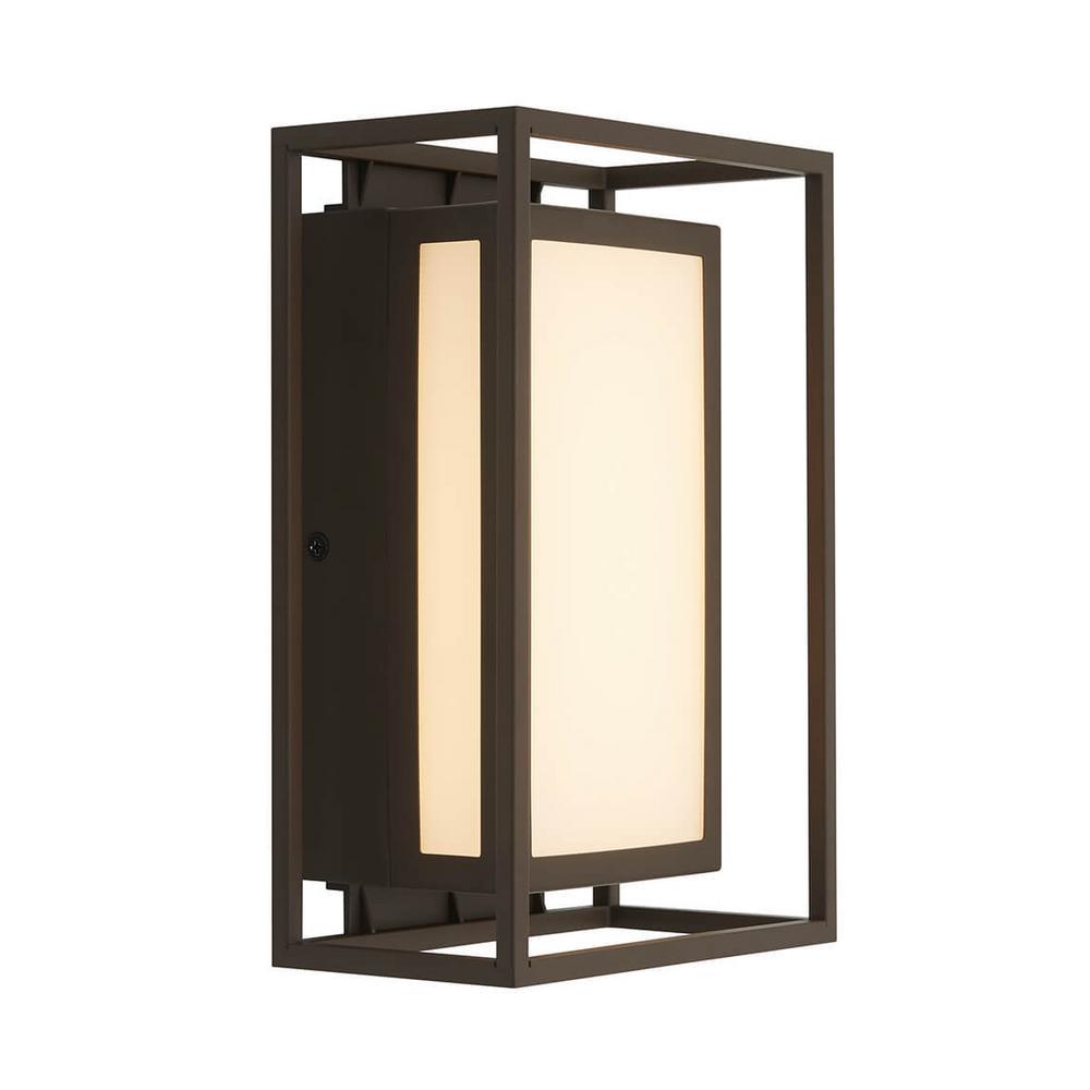 Medium Ghost Bronze Outdoor Integrated LED Wall Mount Lantern