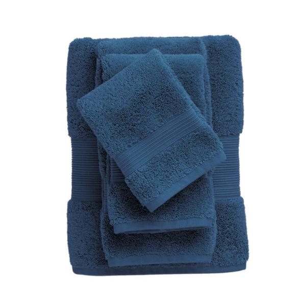 The Company Store Legends Regal Egyptian Cotton Fingertip Towel in Midnight Blue (Set of 2)