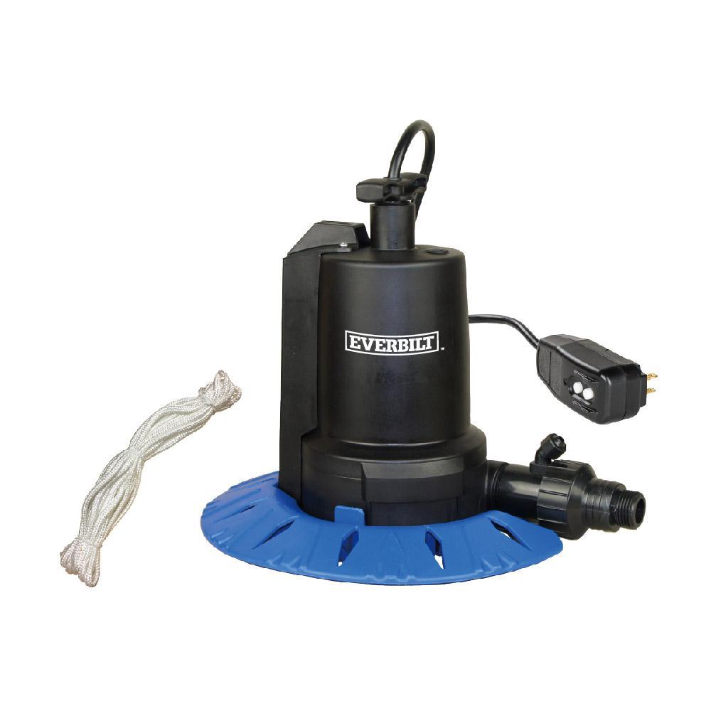 Everbilt 1/8 HP Pool Cover Pump on