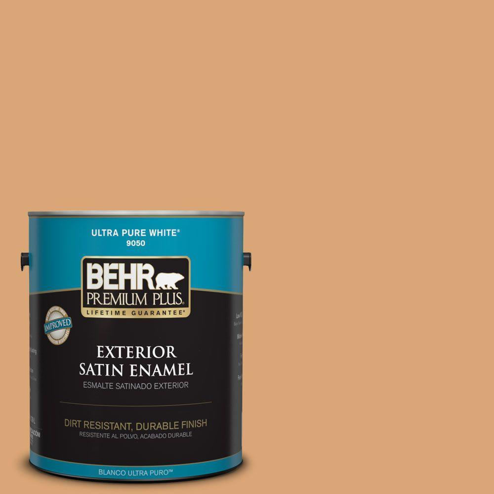 1-gal. #BIC-14 Fresh Nectar Satin Enamel Exterior Paint