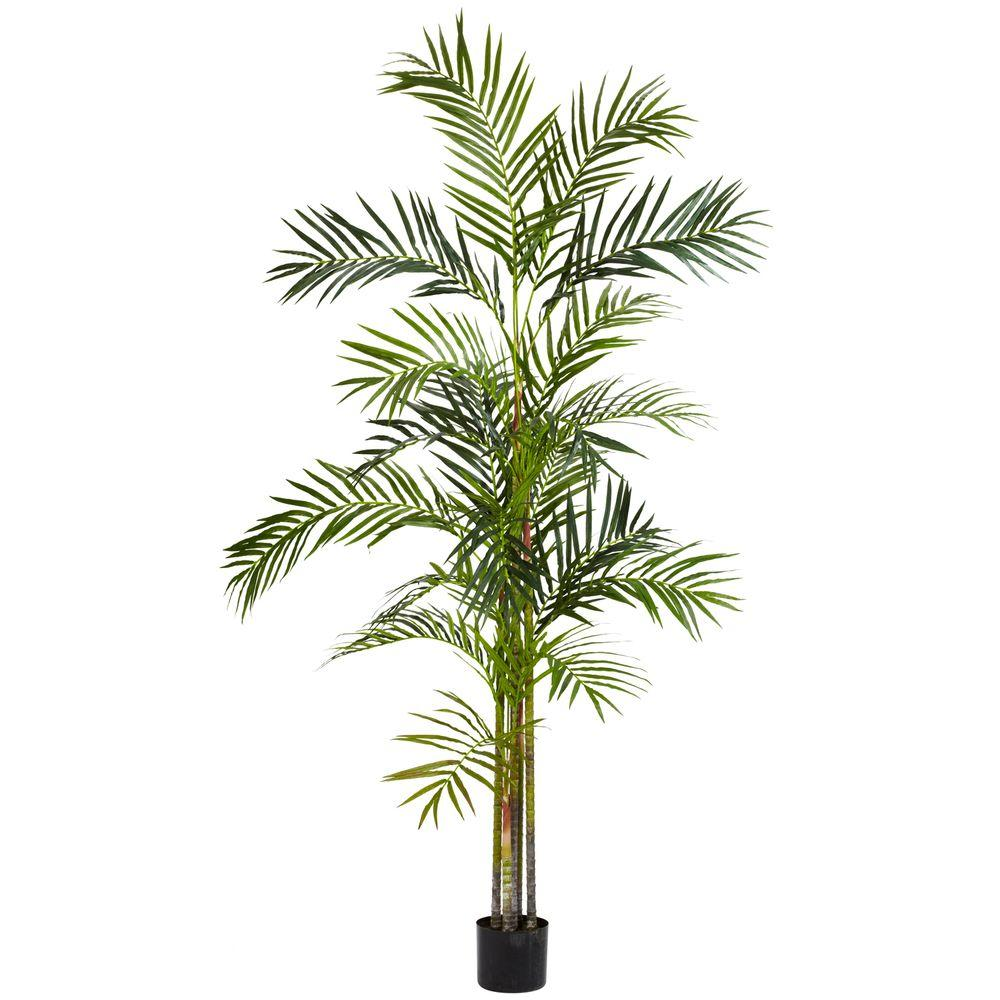Nearly Natural 6 ft. Green Areca Palm Silk Tree