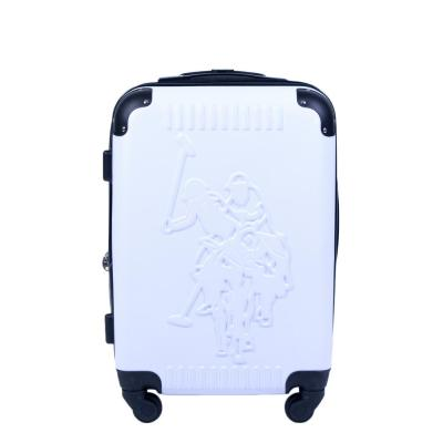 U.S Polo Assn. 21 in. White Hard Case Spinner Rolling Suitcase