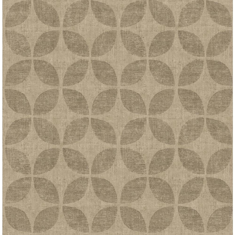 Polaris Brass Geometric Wallpaper