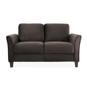 Lifestyle Solutions Wesley 31.5-in Coffee Microfiber 2-Seater Loveseat Deals
