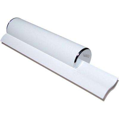 Elite Dual Bladed Shower Squeegee in White with Chrome Trim