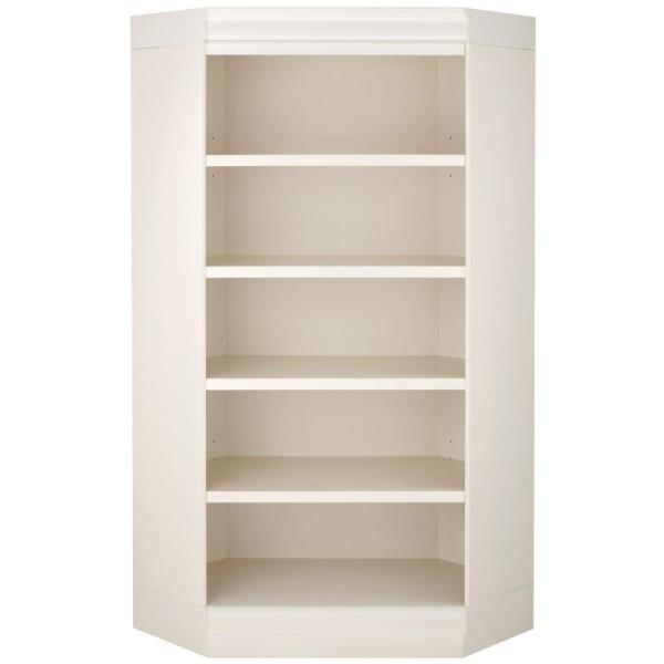 Home Decorators Collection Louis Philippe Modular Polar White Corner Open Bookcase