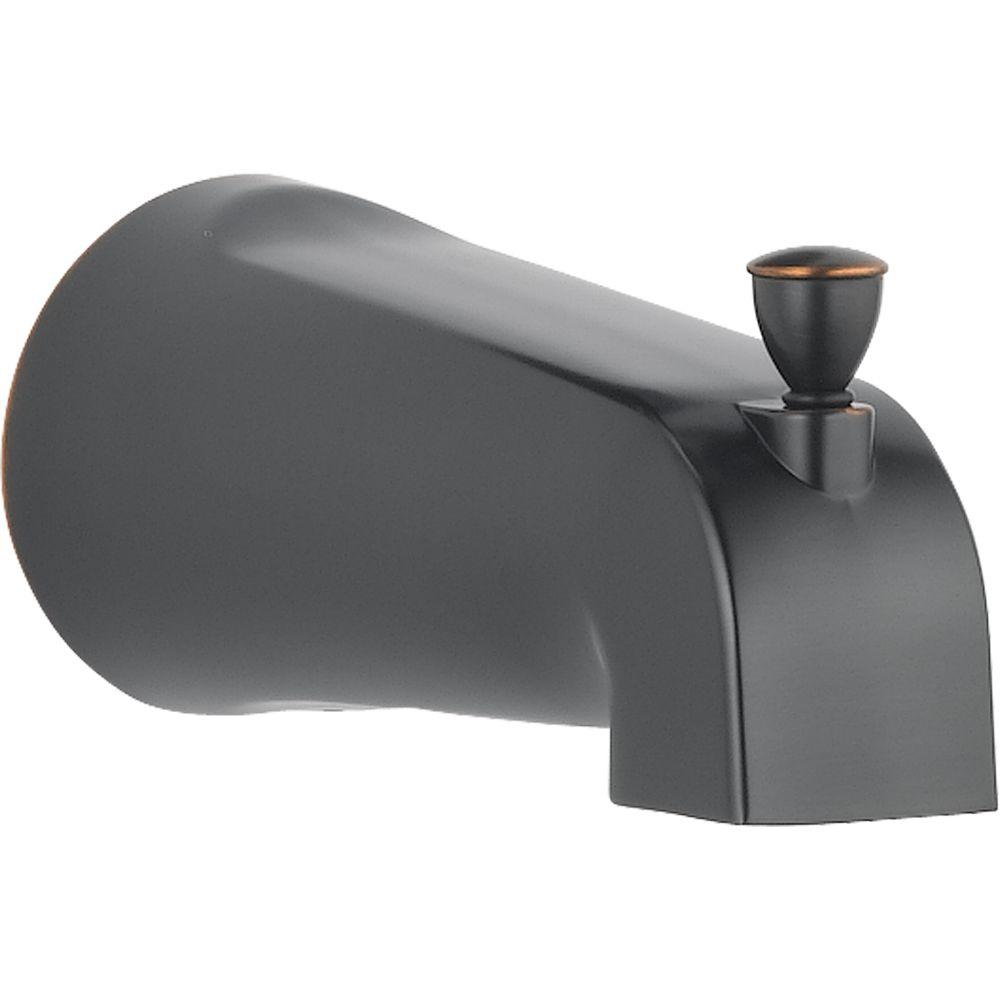 delta foundations 5 3 8 in metal pull up diverter tub spout in oil