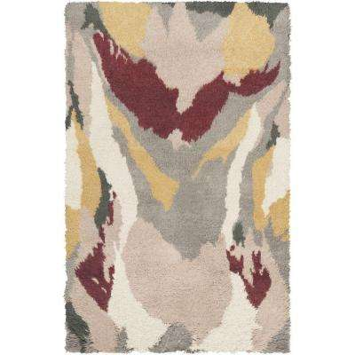 Liona Chocolate 5 ft. x 8 ft. Indoor Area Rug