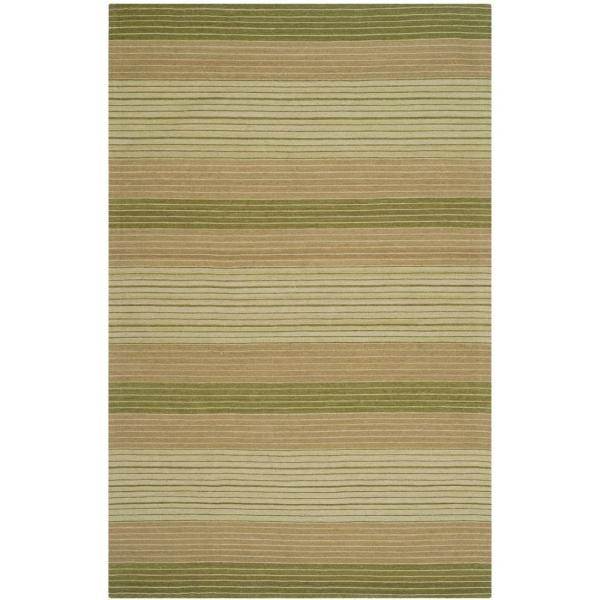 Safavieh Marbella Green 5 Ft X 8 Ft Area Rug Mrb283a 5 The Home Depot