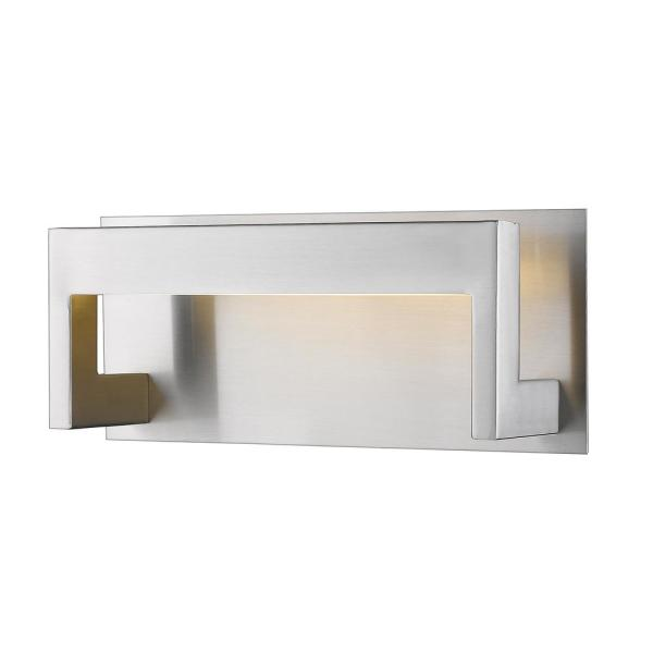 Brushed Nickel LED Sconce with Frosted Acrylic