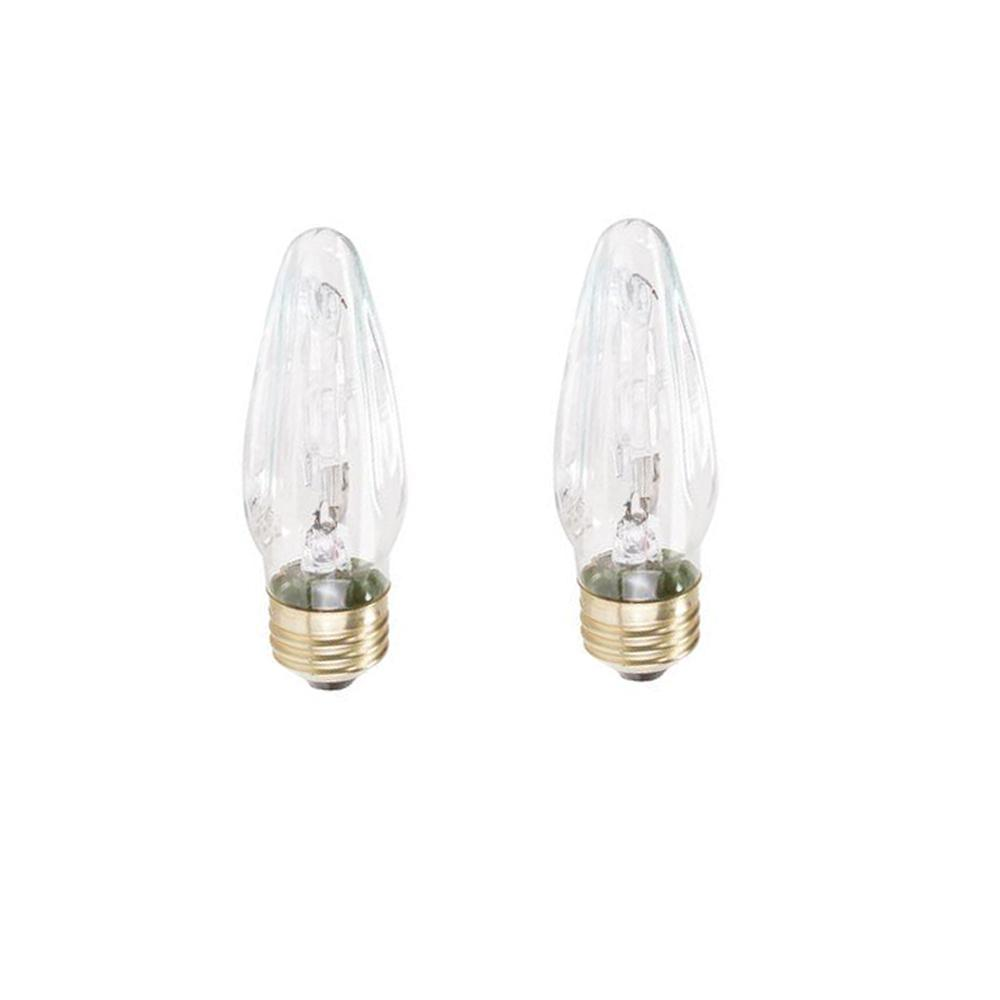 Philips 40 Watt Equivalent Halogen F10 5 Blunt Tip Candle Light Bulb 2