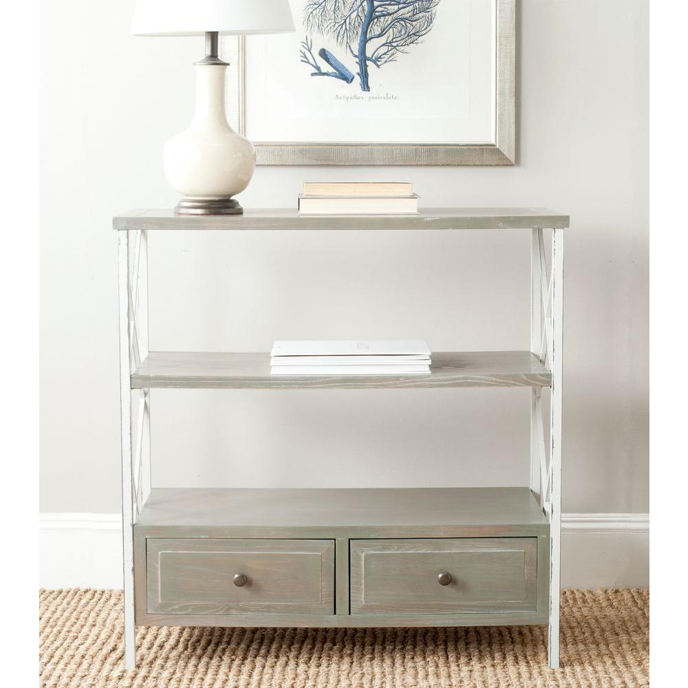 Chandra Ash Grey Storage Console Table