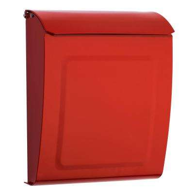 Aspen Locking Wall Mount Mailbox Red