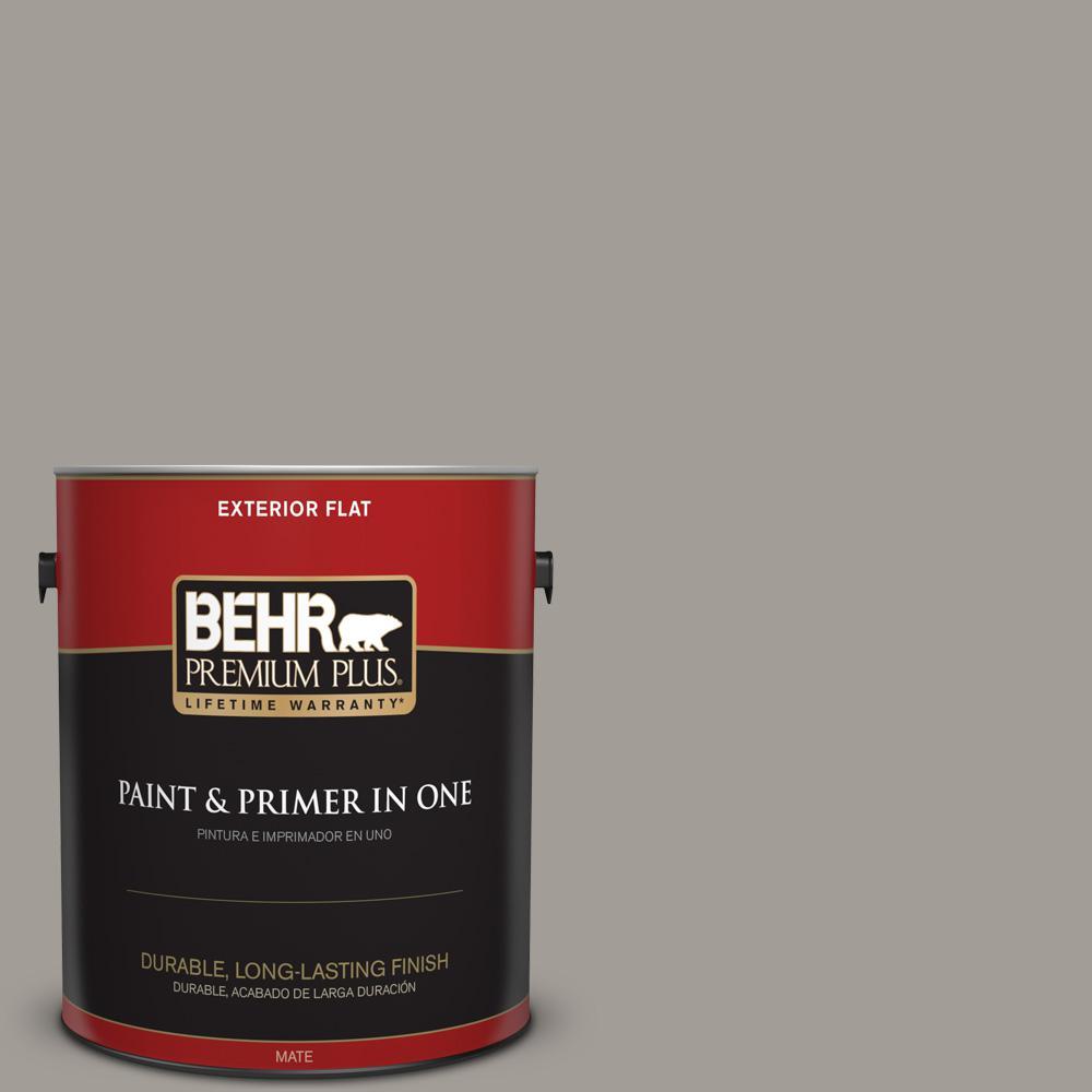 1 gal. #PPU18-15 Fashion Gray Flat Exterior Paint