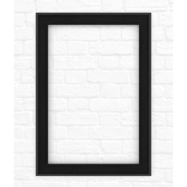 33 in. x 47 in. (L1) Rectangular Mirror Frame in Matte Black