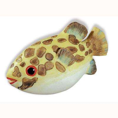 Caribe 2-1/4 in. Brown Speckled Fish Cabinet Knob