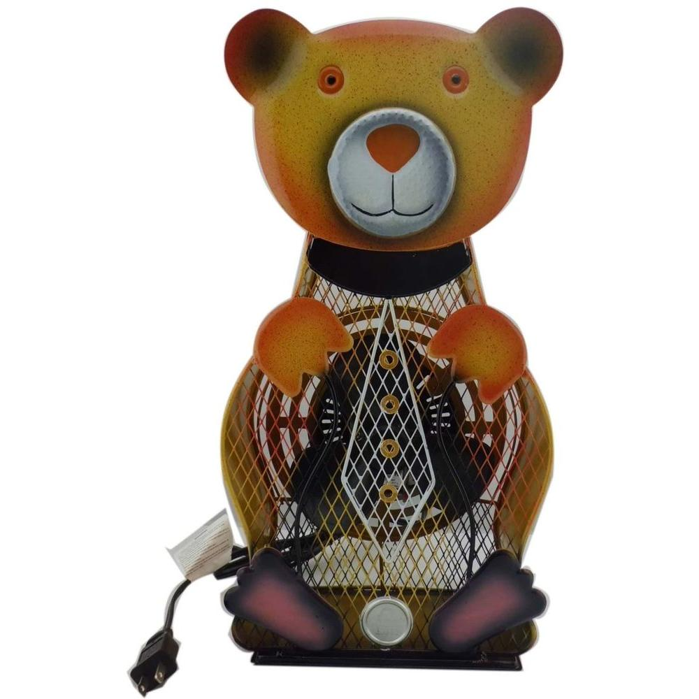 null 9 in. Himalayan Breeze Decorative Bear Table Top Fan (Large)