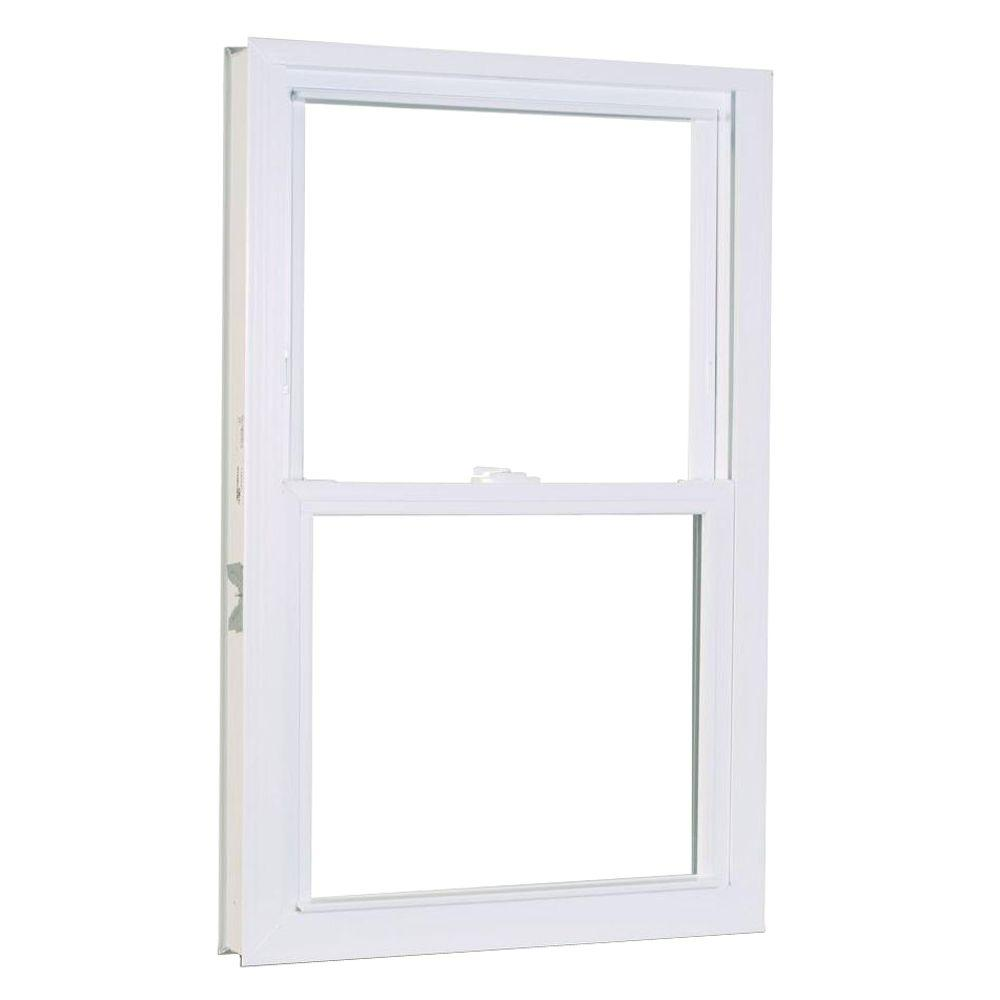 American Craftsman 31 75 In X 53 25 1200 Series Double Hung Buck Vinyl Window White