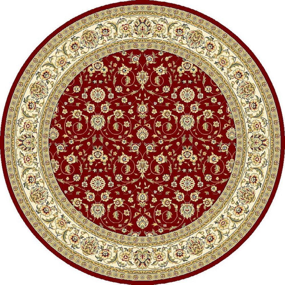 Safavieh Lyndhurst Red/Ivory 8 ft. x 8 ft. Round Area Rug