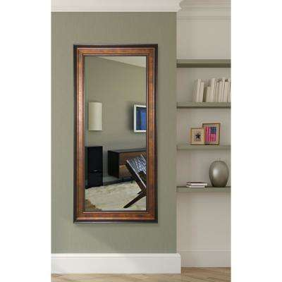 29.5 in. x 67.5 in. Bronze and Black Rounded Beveled Full Body Mirror