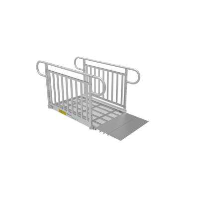 4 ft. Expanded Metal Ramp Kit with Vertical Pickets