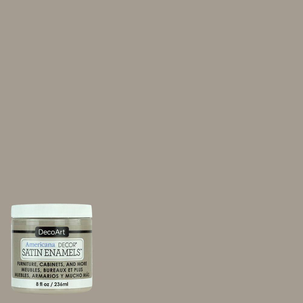 Is Taupe Grey: Americana Decor 8 Oz. Grey Taupe Satin Enamel Paint-ADSA19
