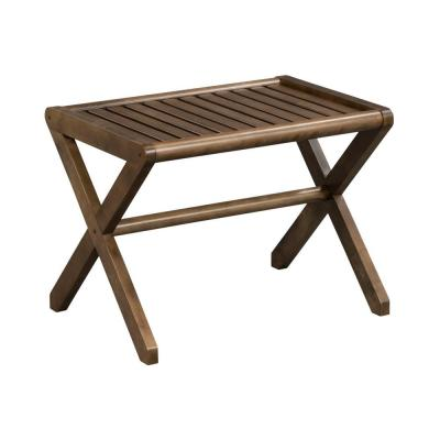 New Ridge Home Abingdon Brown Wood Bench 16 in. x 22 in. x 17 in.