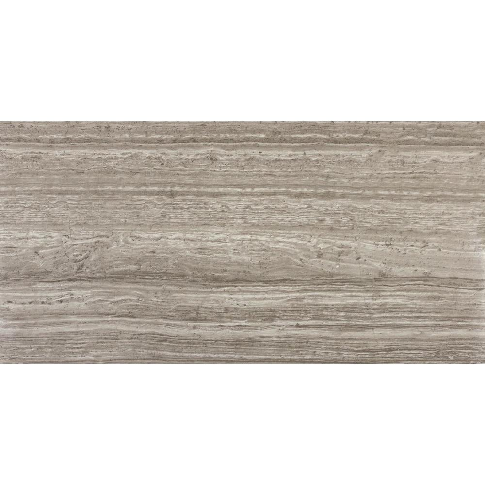 Msi Mare Bianco 12 In X 24 In Glazed Polished Porcelain Floor