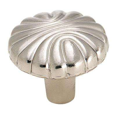 1-1/4 in. Sterling Nickel Round Cabinet Knob