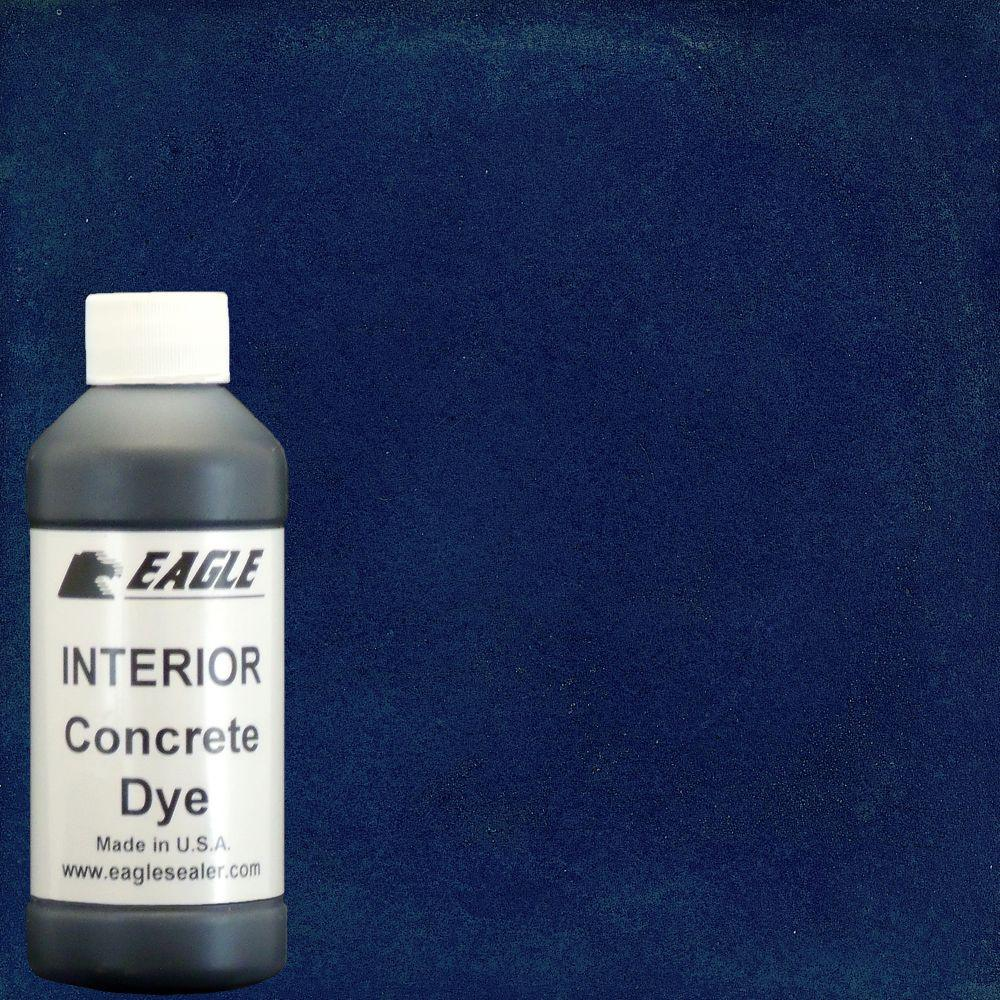 Eagle 1 gal. Blue Berry Interior Concrete Dye Stain Makes with Water from 8 oz. Concentrate
