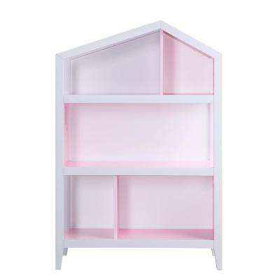 Doll Cottage White and Pink Bookcase