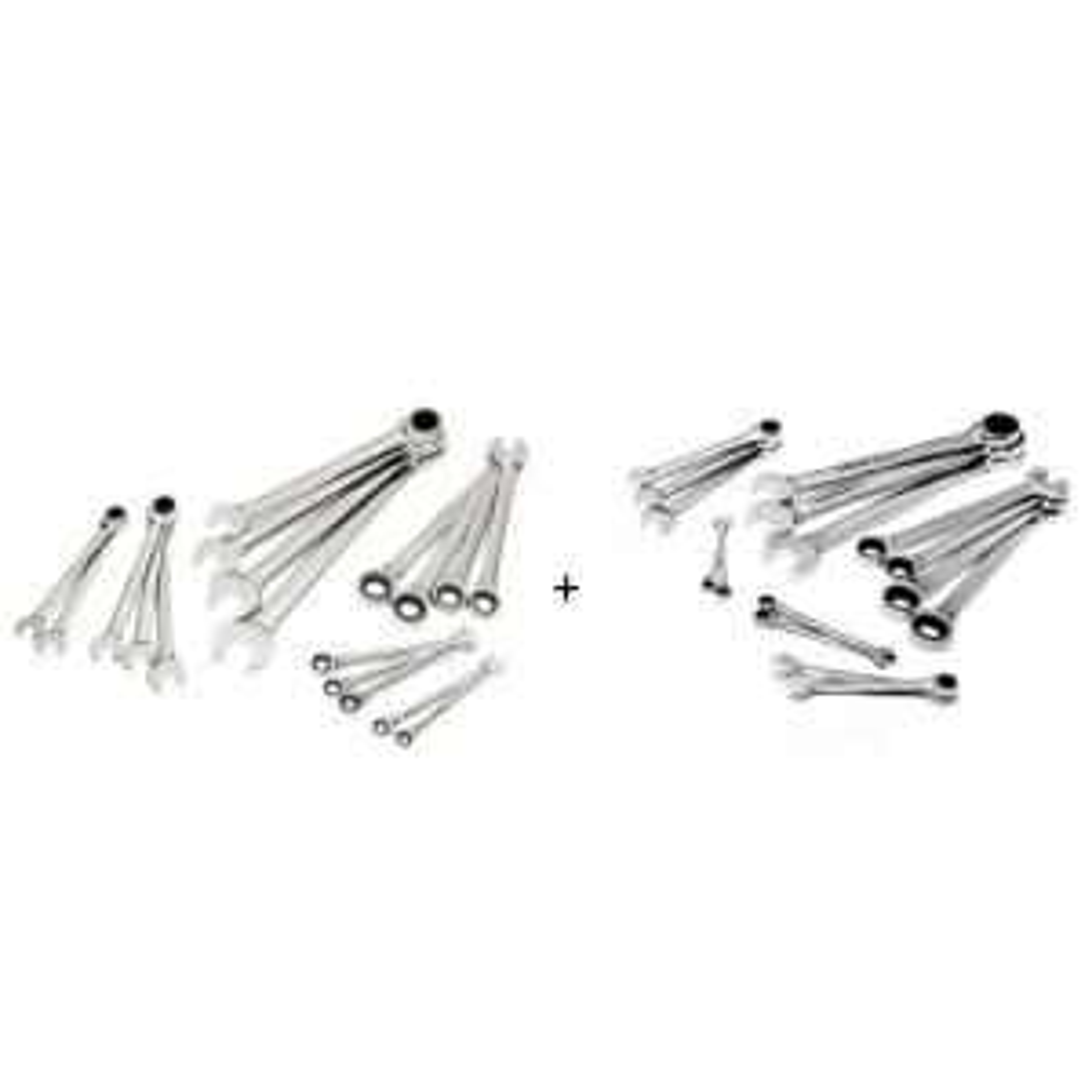 SAE/Metric Master Ratcheting Wrench Set (34-Piece)
