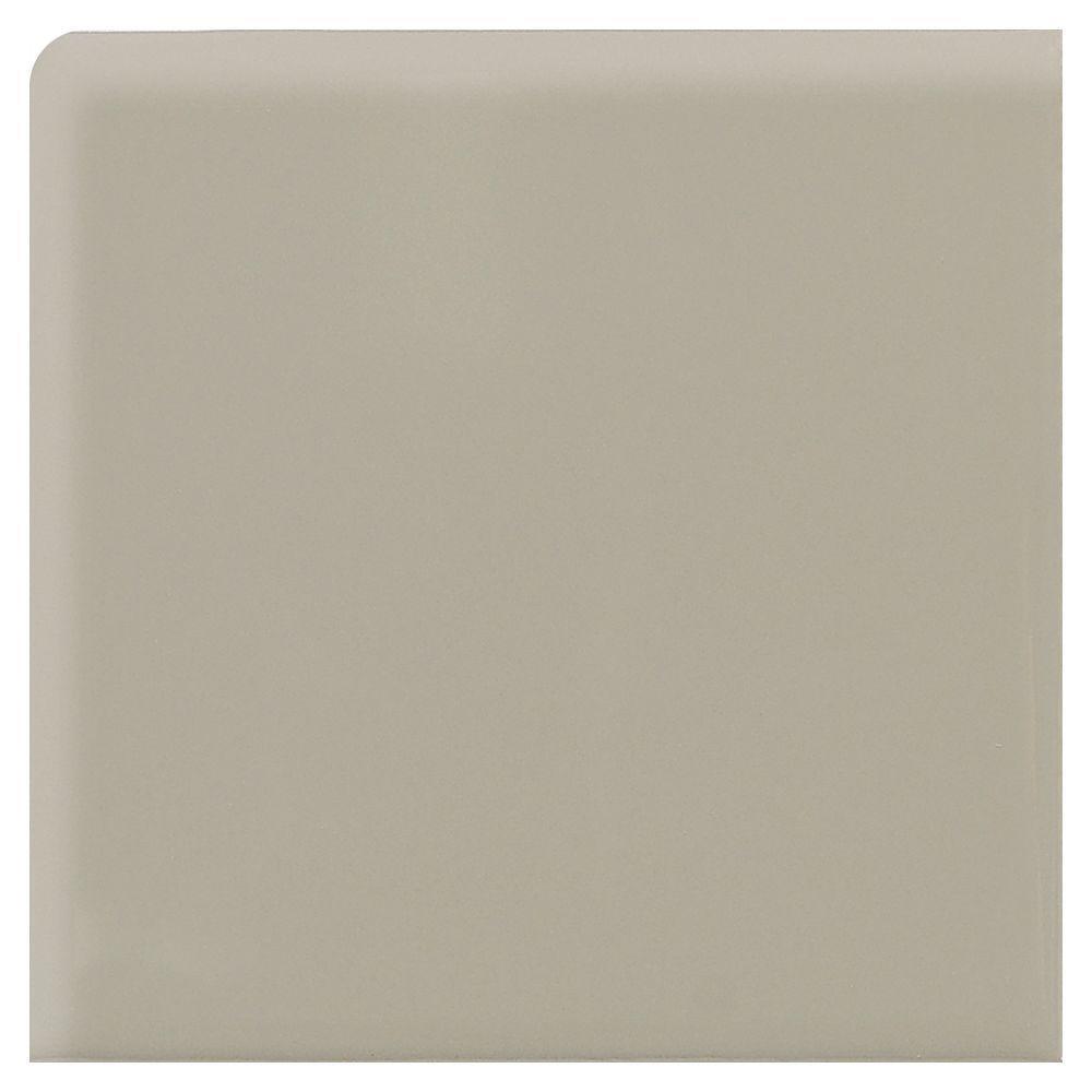 Daltile Modern Dimensions Architectural Gray 2-1/4 in. x 2-1/4 in. Ceramic Bullnose Corner Wall Tile-DISCONTINUED