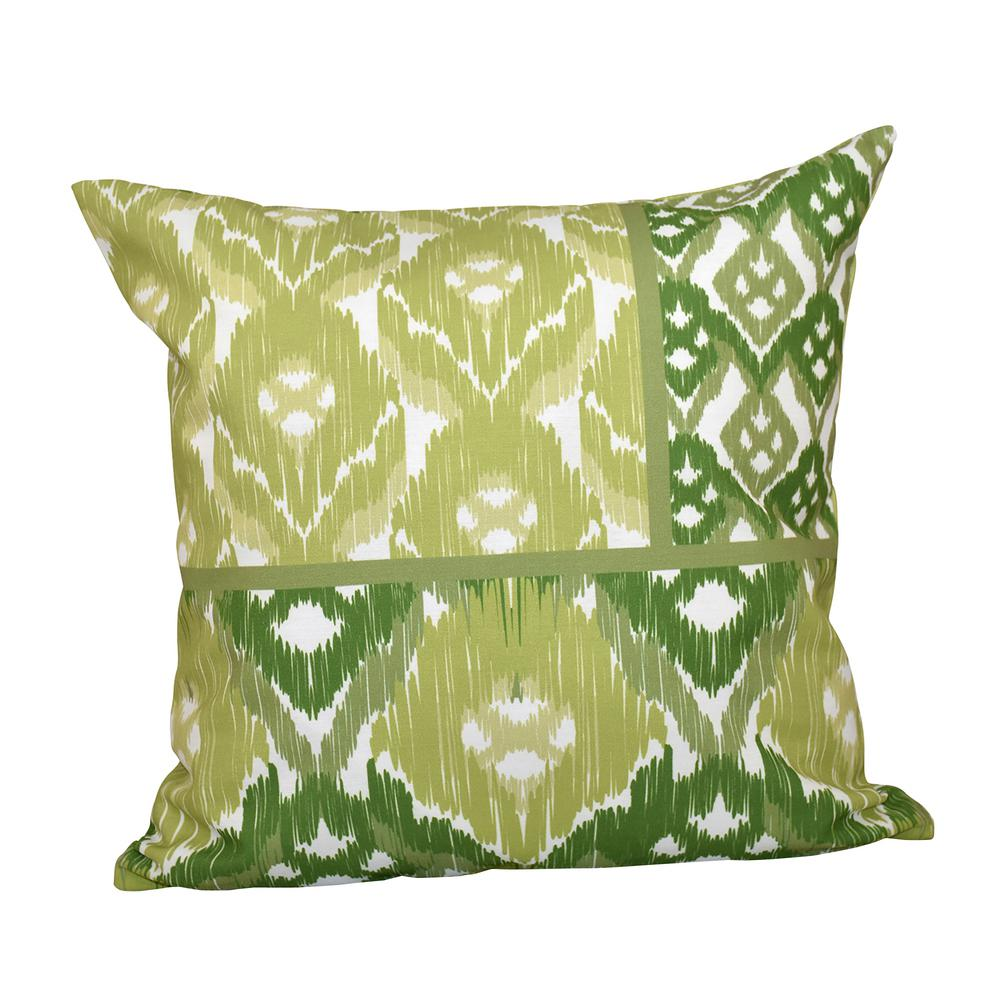 16 X Inch Free Spirit Geometric Print Pillow Green Pgn541gr10 The Home Depot
