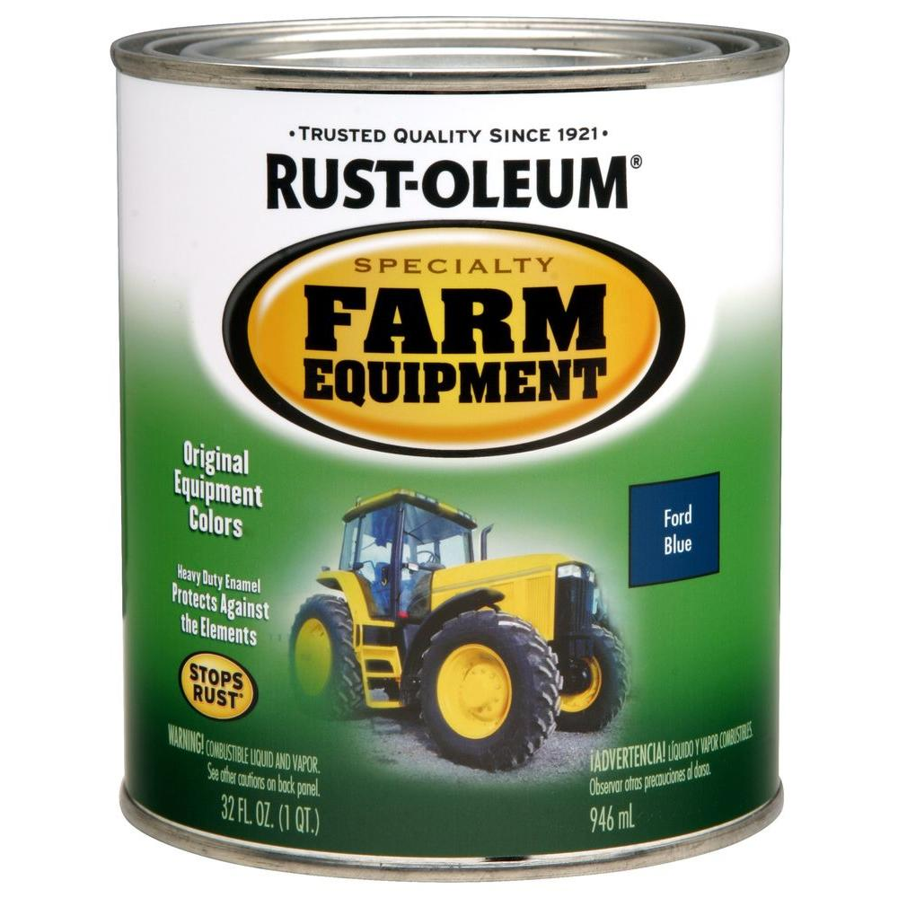 1 qt. Farm Equipment Ford Blue Gloss Enamel Paint (2-Pack)