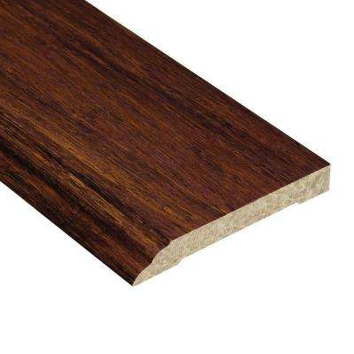 Strand Woven Sapelli 1/2 in. Thick x 3-1/2 in. Wide x 94 in. Length Bamboo Wall Base Molding