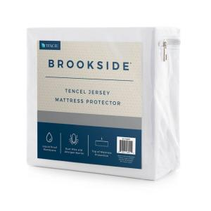 Brookside Tencel Jersey Fabric Polyester Queen Mattress Protector by Brookside