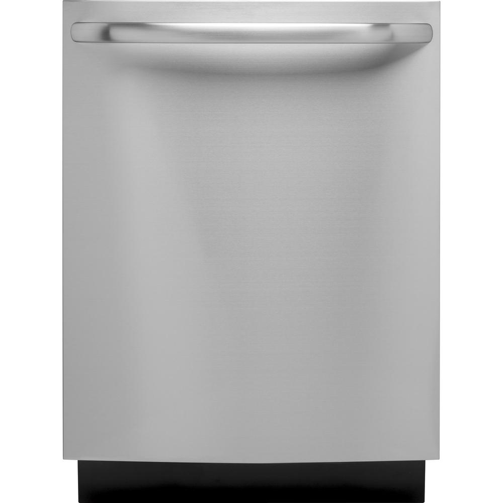 Ge top control built in tall tub dishwasher in stainless for How tall is a tub