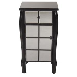Shelly Assembled 17.3 in. x 17.3 in. x 13 in. Black Wood Accent Storage Cabinet with Drawer and Door