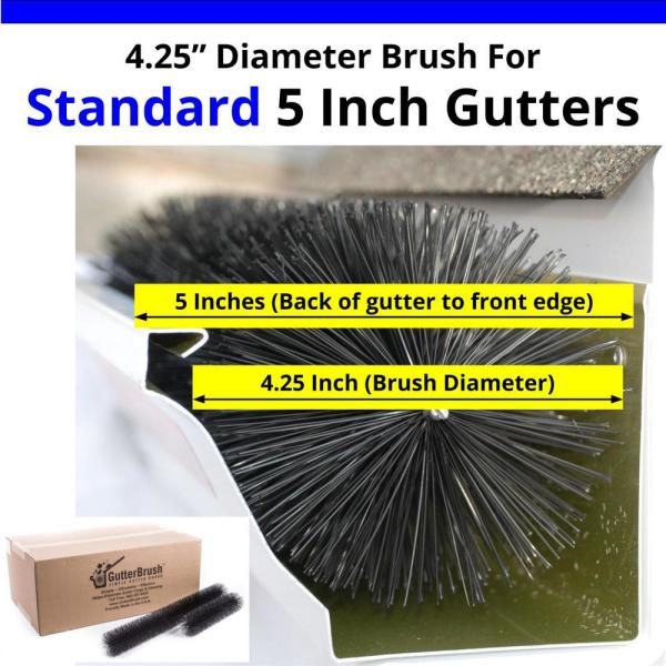 Gutterbrush Standard 5 In 15 Ft Pack Max Flow Filter Brush Gutter Guard 5in 15ft The Home Depot