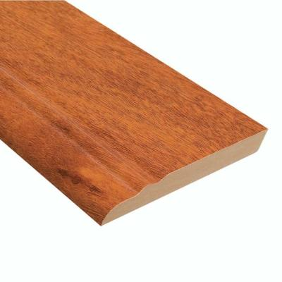 High Gloss Jatoba 12.7 mm Thick x 3-13/16 in. Wide x 94 in. Length Laminate Wall Base Molding