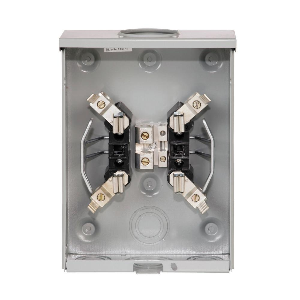 Eaton 125 Amp Overhead Ring Less Horn Bypass Single Meter Socket Uhtrs101be The Home Depot