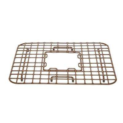 Sullivan 18 in. Copper Kitchen Sink Bottom Grid Heavy Duty Vinyl Coated in Antique Brown