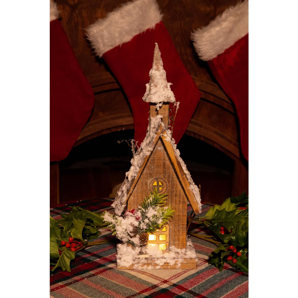 Marvelous Alpine Corporation 14 In Christmas Wooden House With 10 Led Lights Download Free Architecture Designs Philgrimeyleaguecom
