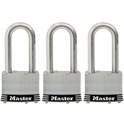 1-3/4 in. Laminated Stainless Steel Keyed Padlock with 2 in. Shackle (3-Pack)