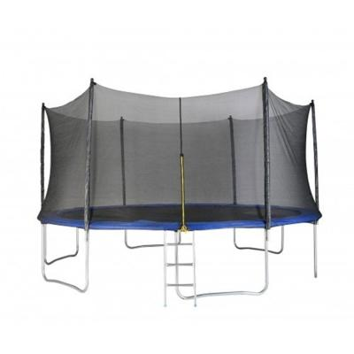 FUFU & GAGA TRADE CO LTD 12 ft. Round Trampoline Set Net Head Cover with Safety Enclosure and Ladder Garden Game Party