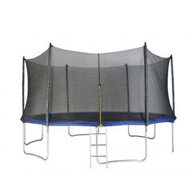 12 ft. Round Trampoline Set Net Head Cover with Safety Enclosure and Ladder Garden Game Party