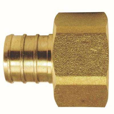 3/4 in. Brass PEX Barb x Female Swivel Adapter