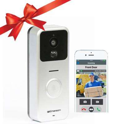 Wireless Wi-Fi Enabled Smart Video Door Bell with 2 Way Talk, Night Vision, Motion Activated Alerts, ER107001