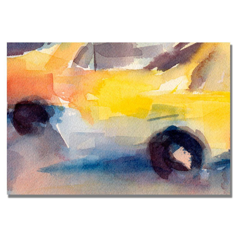 Trademark Fine Art 16 in. x 24 in. Taxi New York Canvas Art-DISCONTINUED
